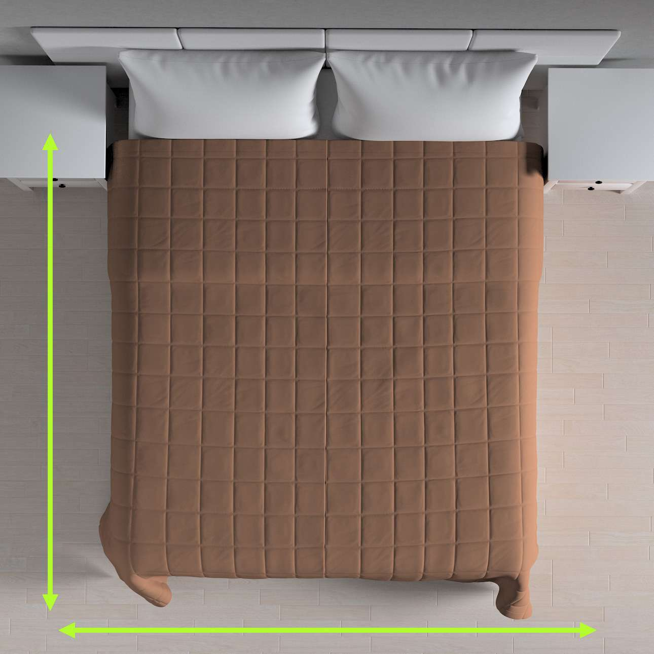 Check quilted throw in collection Panama Cotton, fabric: 702-02