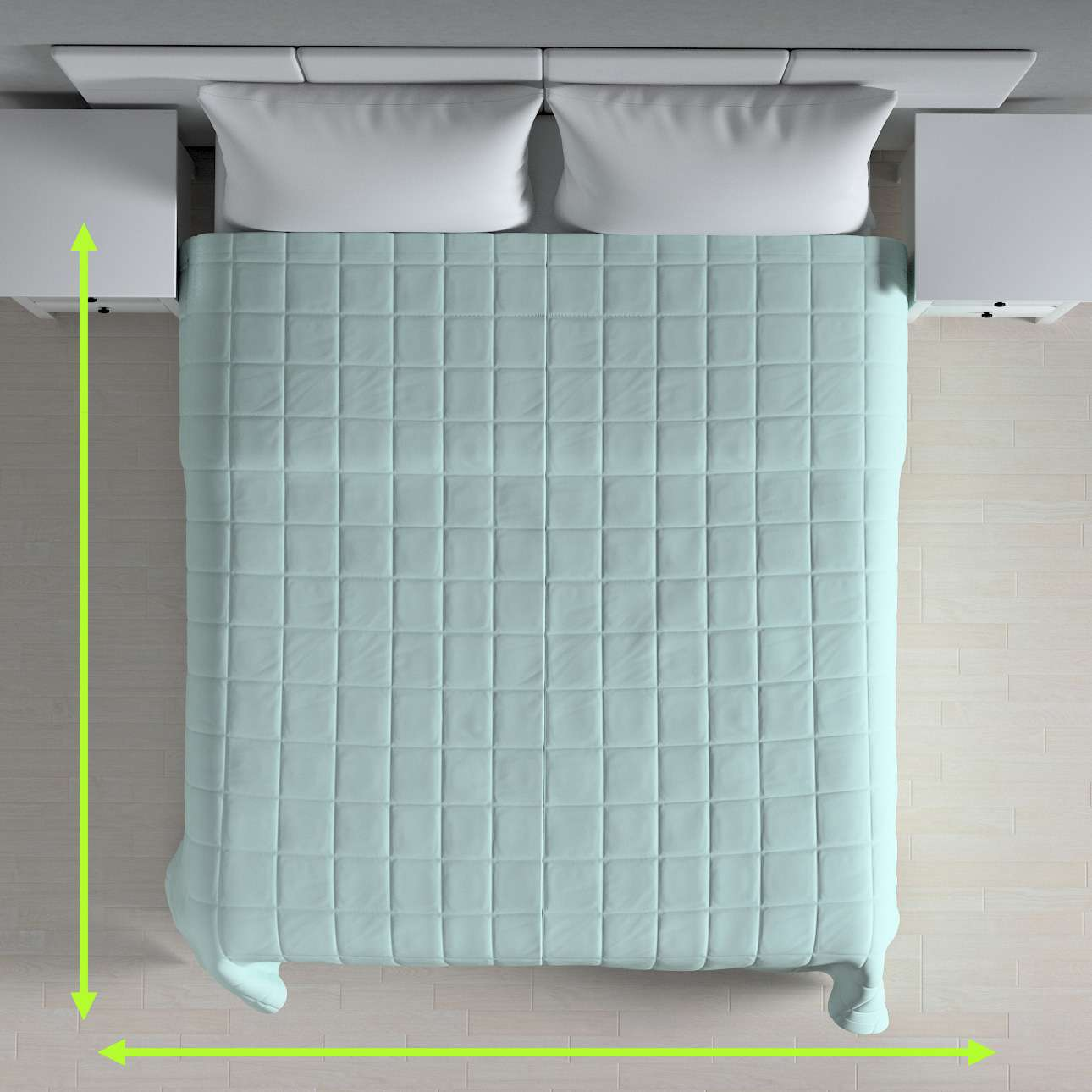 Quilted throw (check quilt pattern) in collection Cotton Panama, fabric: 702-10