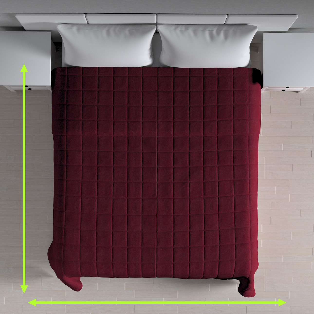 Quilted throw (check quilt pattern) in collection Chenille, fabric: 702-19