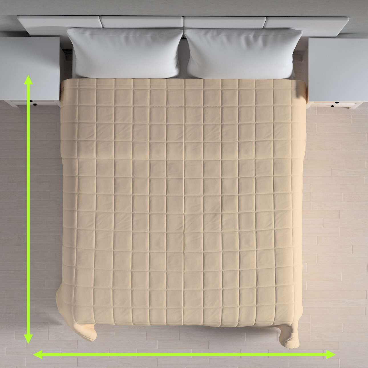 Quilted throw (check quilt pattern) in collection Chenille, fabric: 702-22