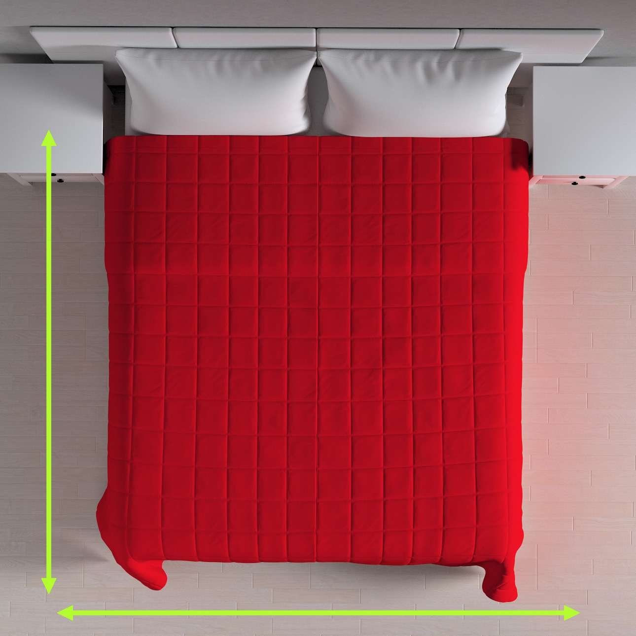 Quilted throw (check quilt pattern) in collection Chenille, fabric: 702-24