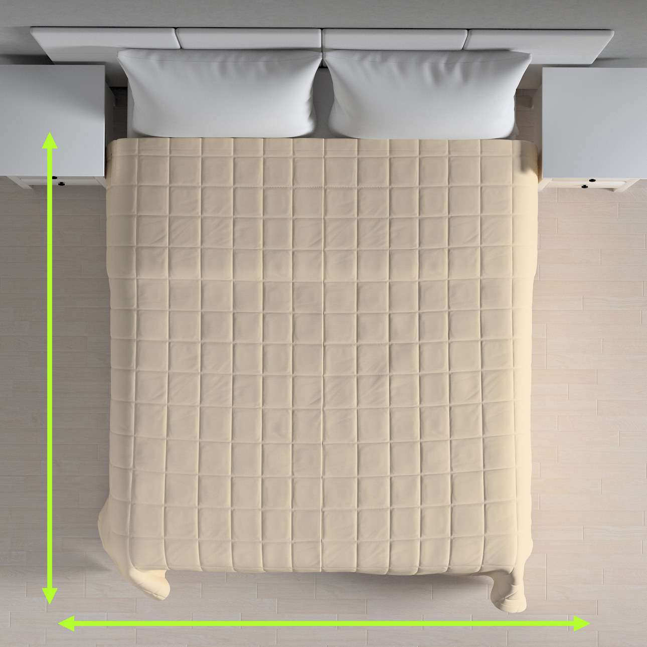 Quilted throw (check quilt pattern) in collection Cotton Panama, fabric: 702-29