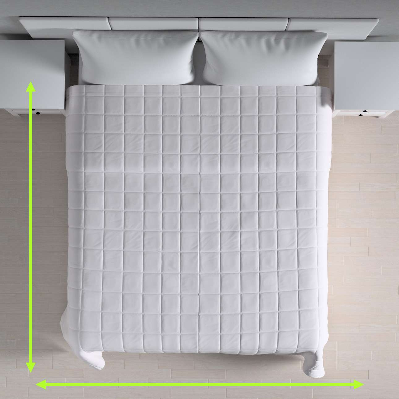 Quilted throw (check quilt pattern) in collection Cotton Panama, fabric: 702-34