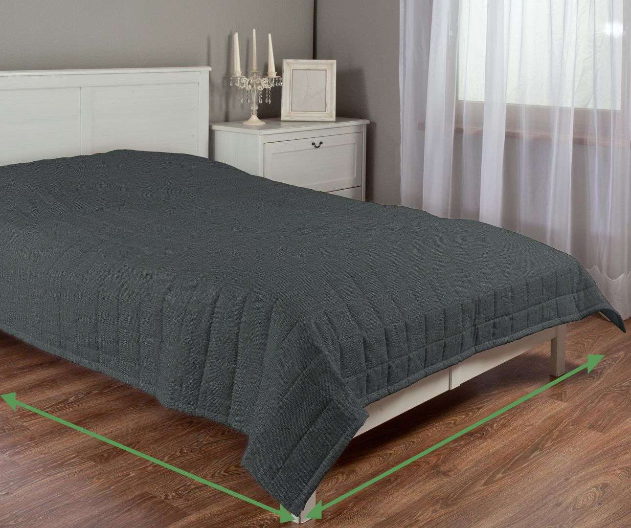 Check quilted throw in collection Vintage, fabric: 702-35
