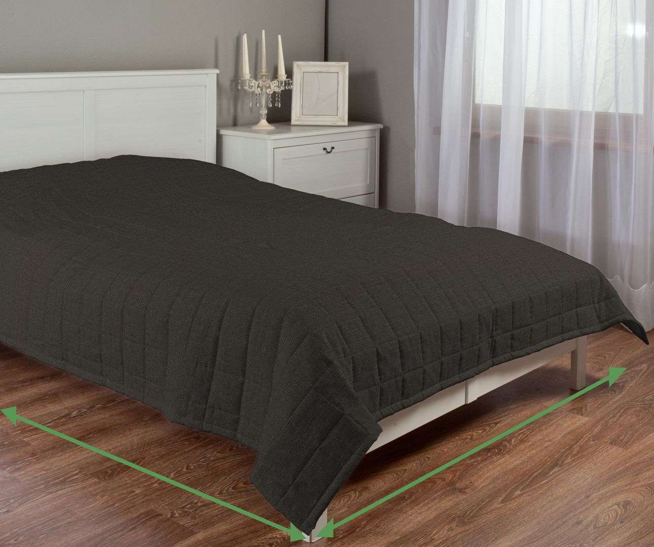 Check quilted throw in collection Vintage, fabric: 702-36