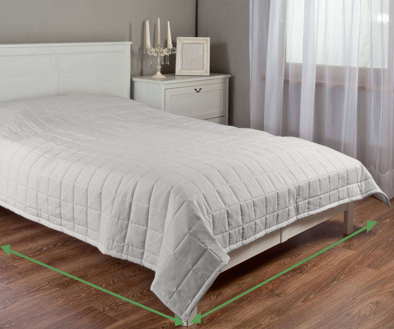 Check quilted throw in collection Etna, fabric: 705-01