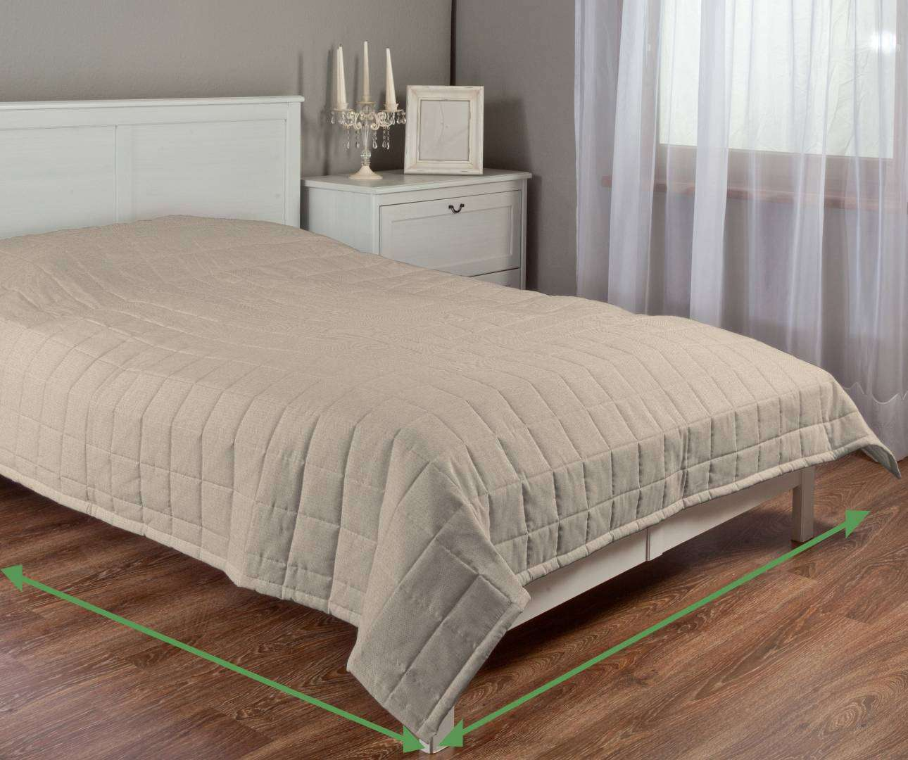 Check quilted throw in collection Etna, fabric: 705-02