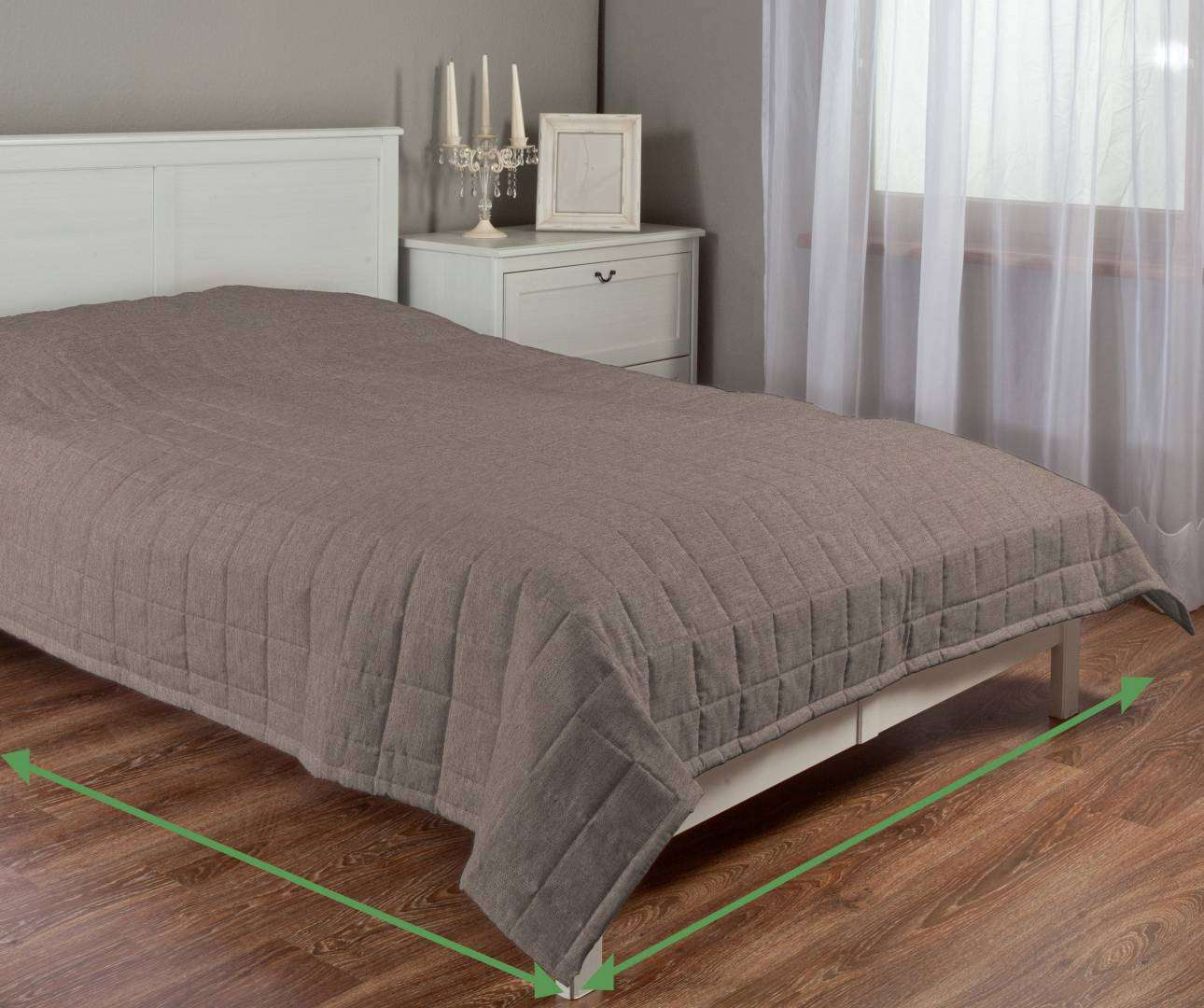 Check quilted throw in collection Etna, fabric: 705-03