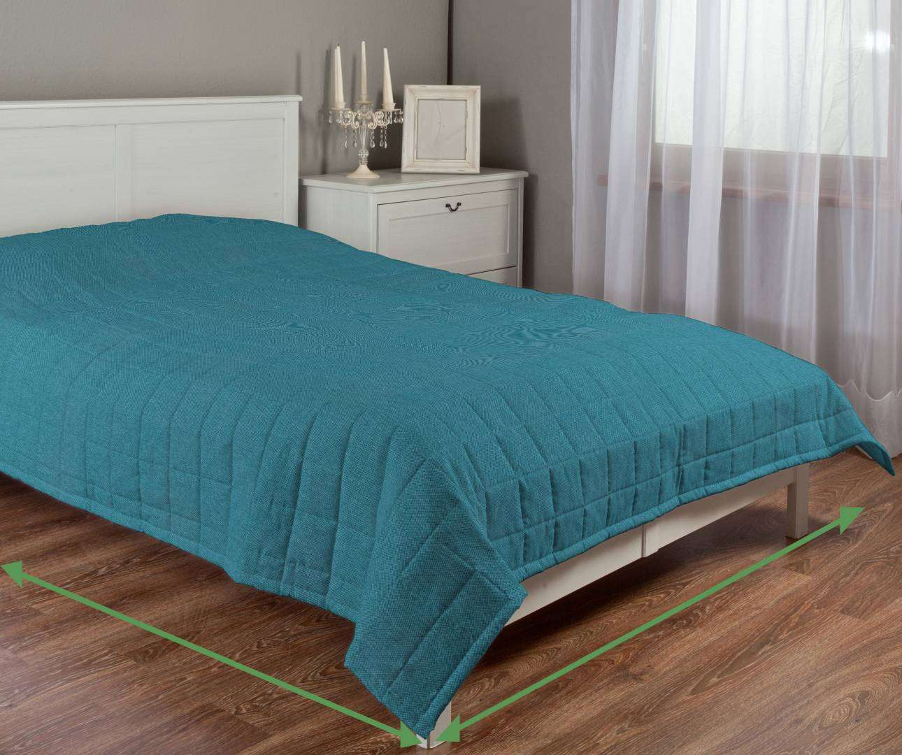 Quilted throw (check quilt pattern) in collection Etna, fabric: 705-16