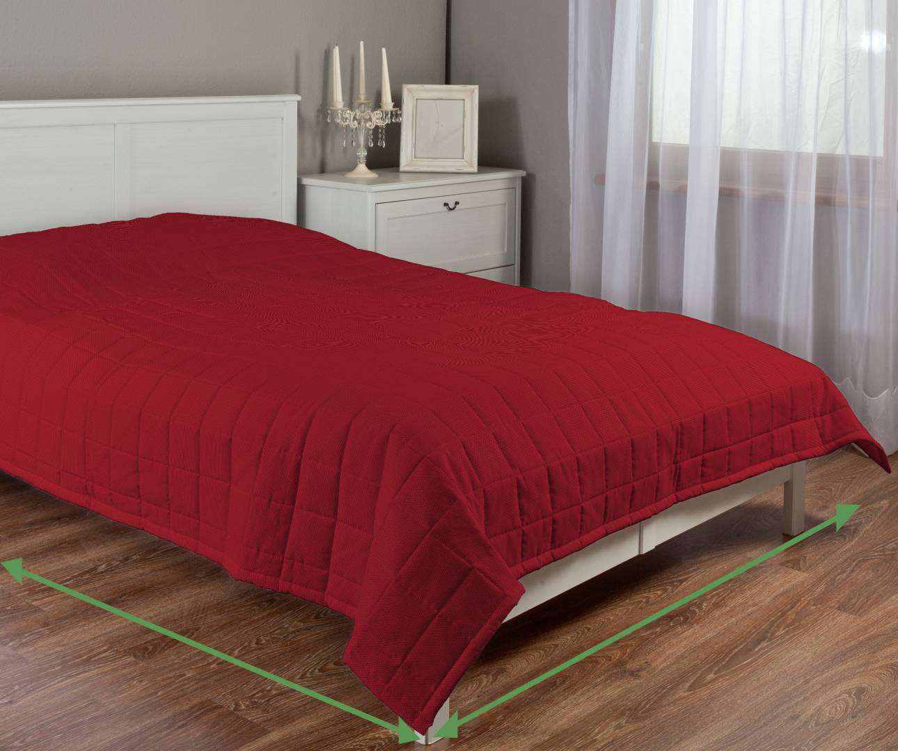 Quilted throw (check quilt pattern) in collection Etna , fabric: 705-60