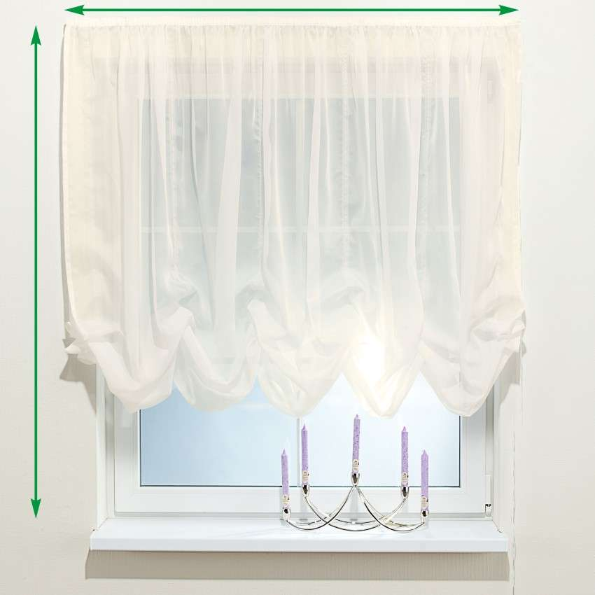 Austrian voile blind in collection Voile, fabric: 900-01