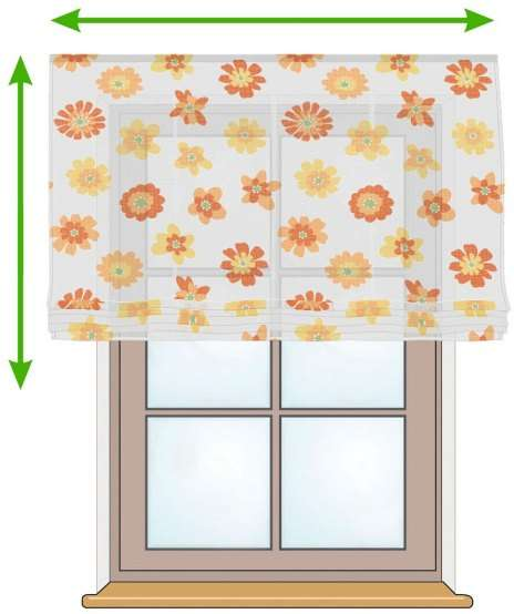 Siena voile blind in collection Net Curtains (Firany), fabric: 111-37