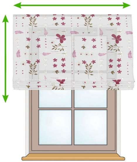 Siena voile blind in collection Net Curtains (Firany), fabric: 111-42