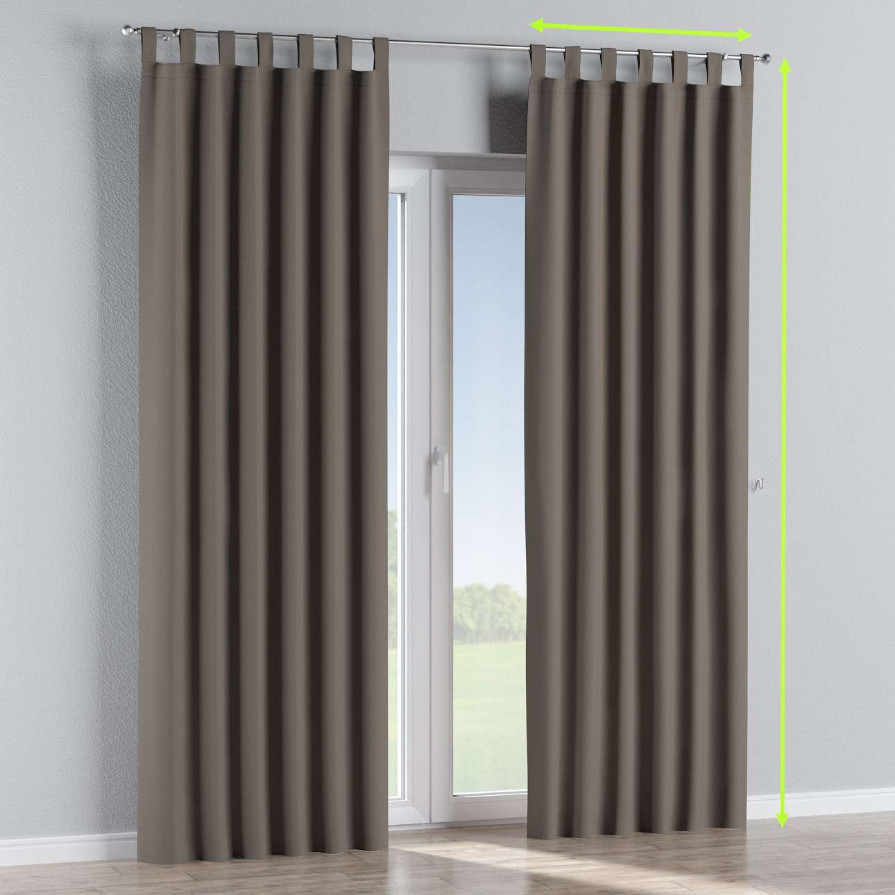 Navy White Striped Curtains Tie Up Blackout Curtains