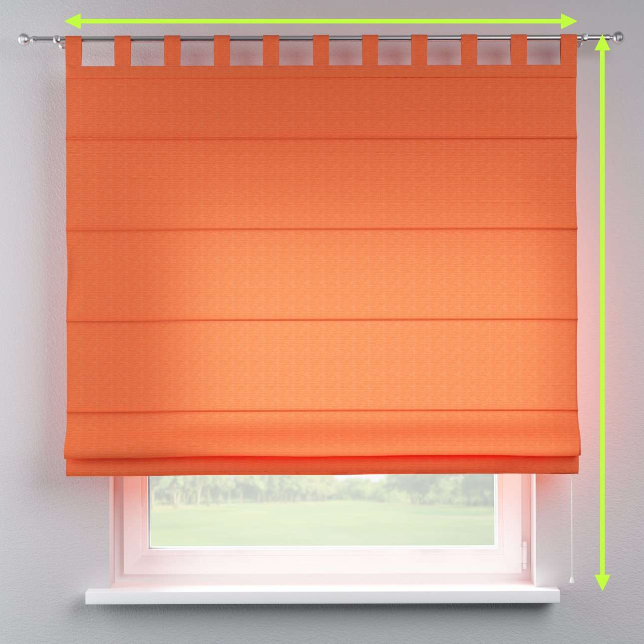 Verona tab top roman blind in collection Jupiter, fabric: 127-35