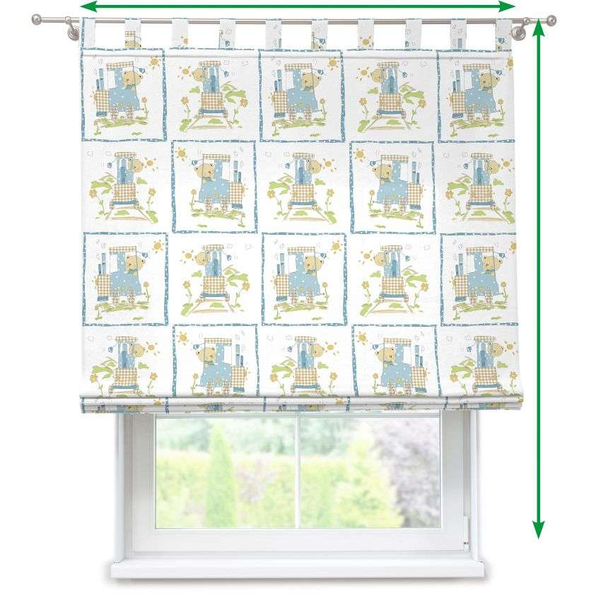 Verona tab top roman blind in collection SALE, fabric: 119-29