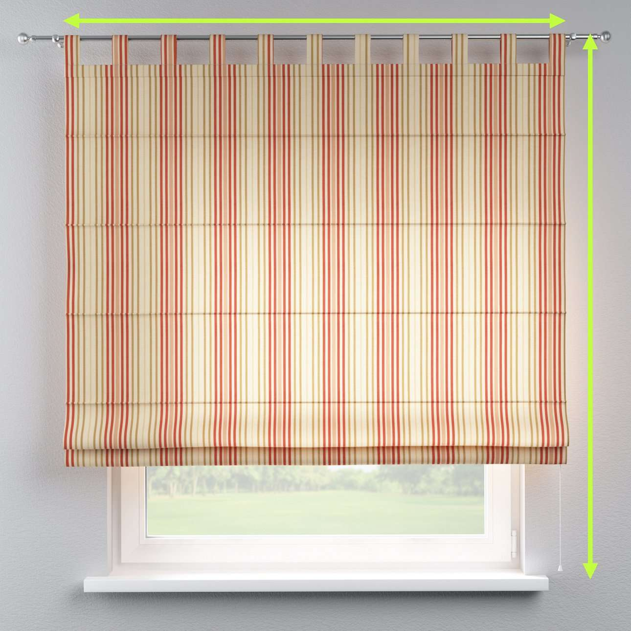 Verona tab top roman blind in collection Londres, fabric: 122-05