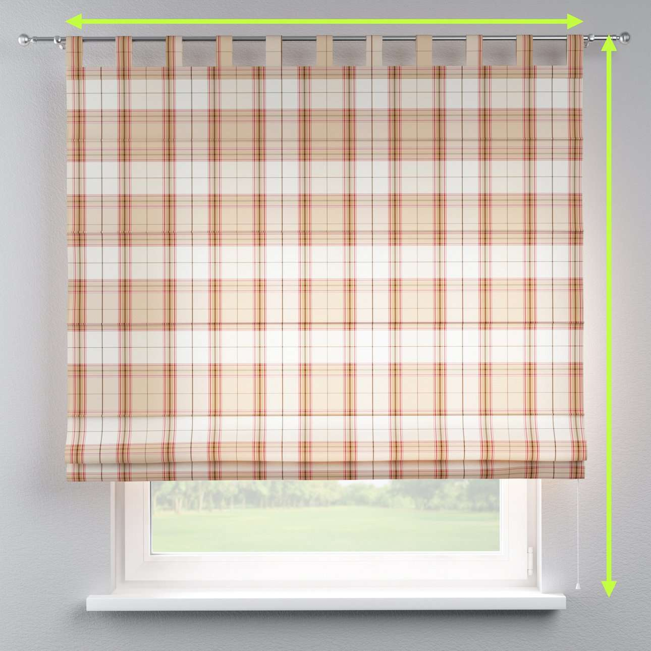Verona tab top roman blind in collection Bristol, fabric: 125-09