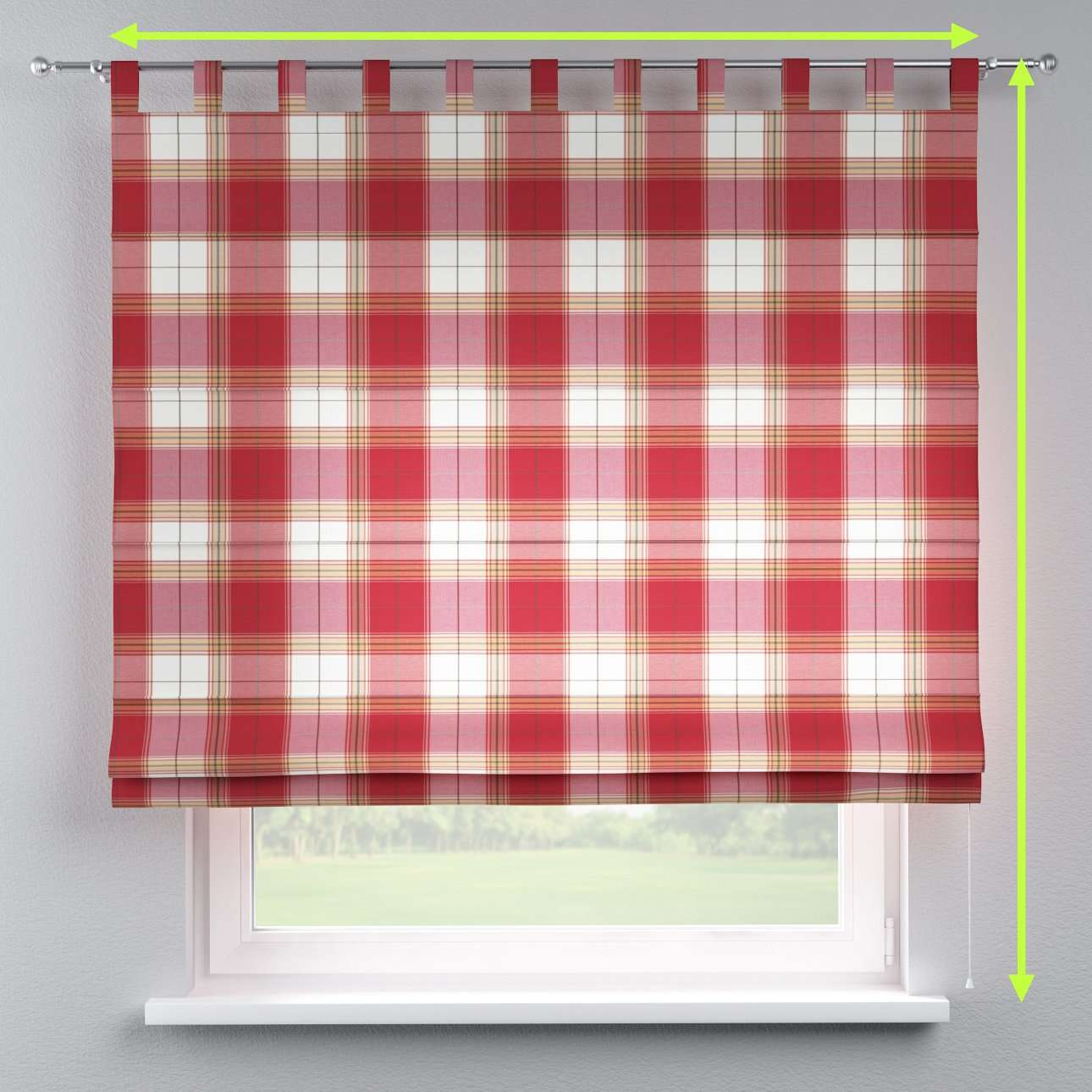 Verona tab top roman blind in collection Bristol, fabric: 125-15