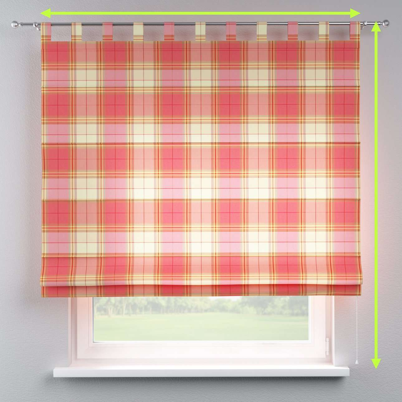 Verona tab top roman blind in collection Bristol, fabric: 125-25