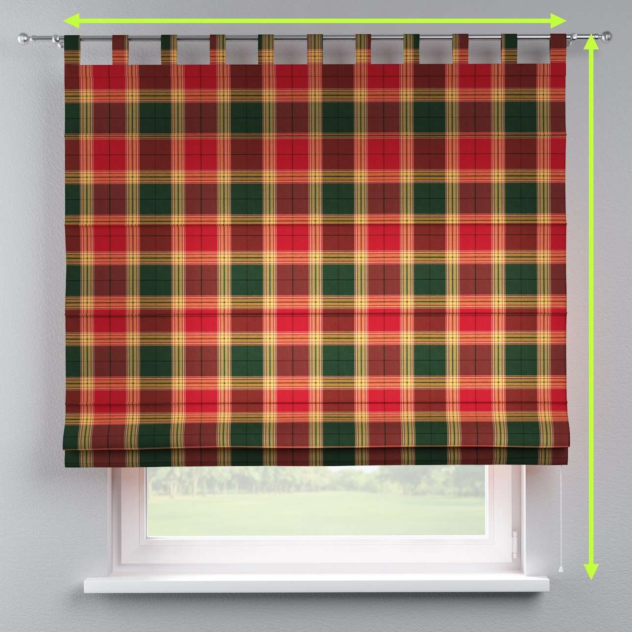 Verona tab top roman blind in collection Bristol, fabric: 125-48