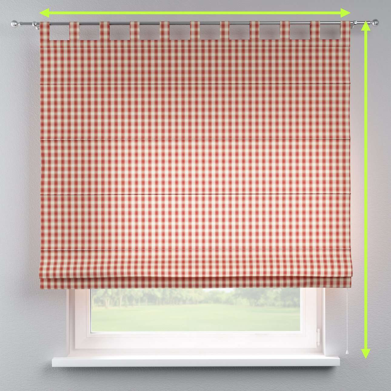Verona tab top roman blind in collection Bristol, fabric: 126-09