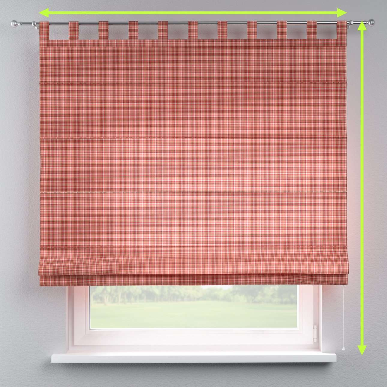 Verona tab top roman blind in collection Bristol, fabric: 126-15
