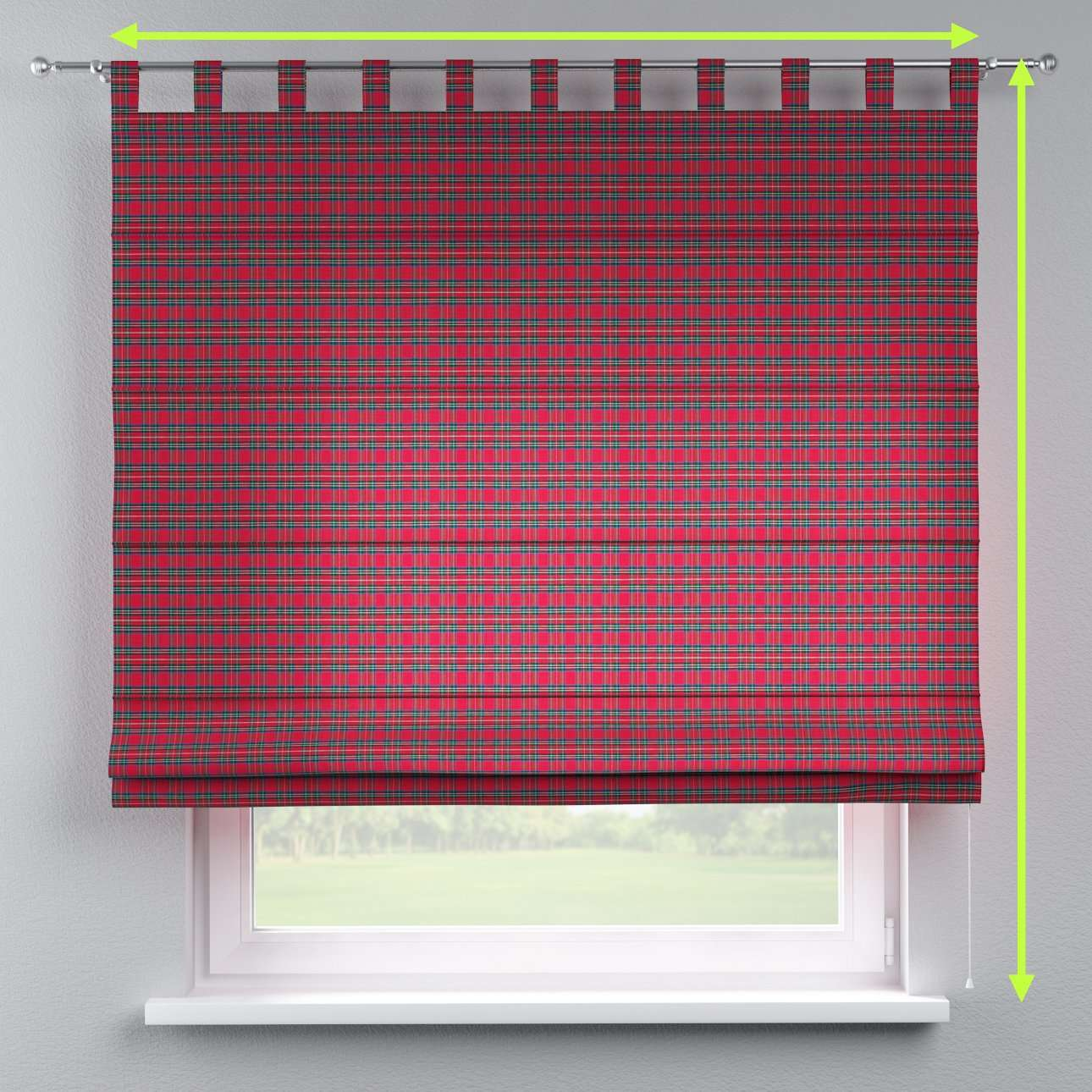 Verona tab top roman blind in collection Bristol, fabric: 126-29