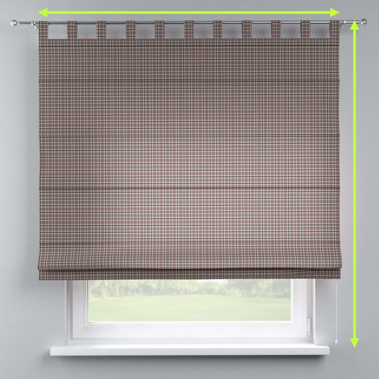Verona tab top roman blind in collection Bristol, fabric: 126-32