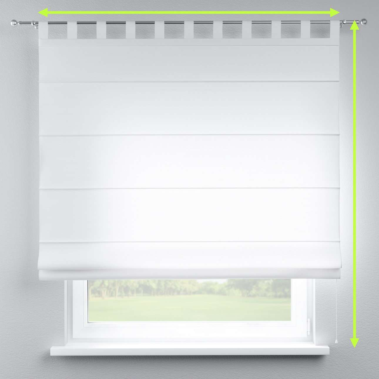 Verona tab top roman blind in collection Jupiter, fabric: 127-01