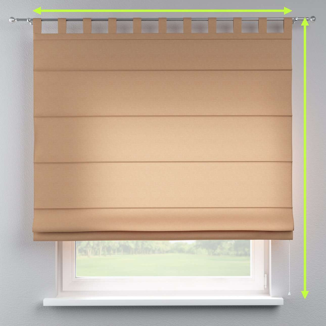 Verona tab top roman blind in collection Jupiter, fabric: 127-04