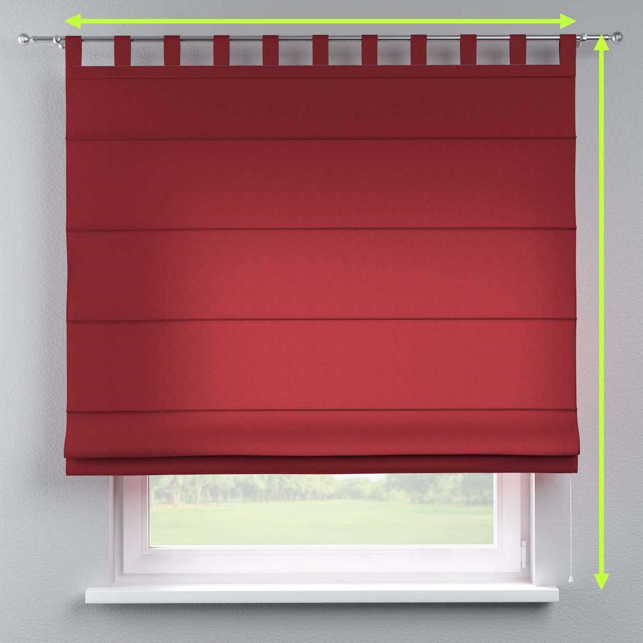 Verona tab top roman blind in collection Jupiter, fabric: 127-15