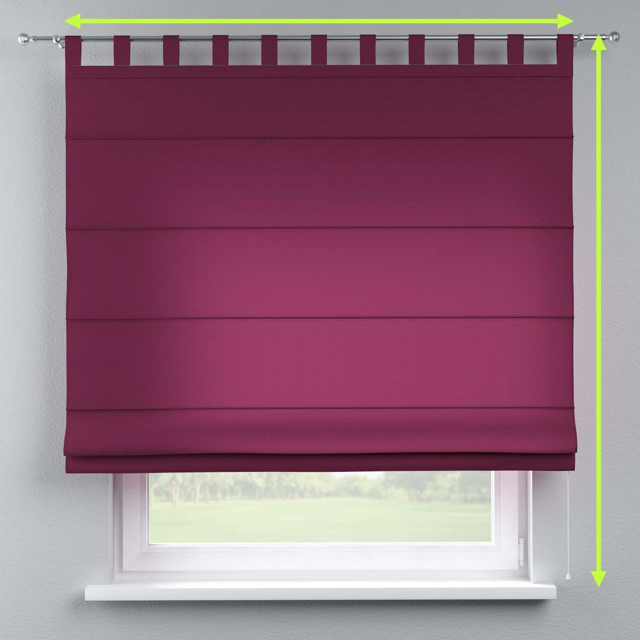 Verona tab top roman blind in collection Jupiter, fabric: 127-20