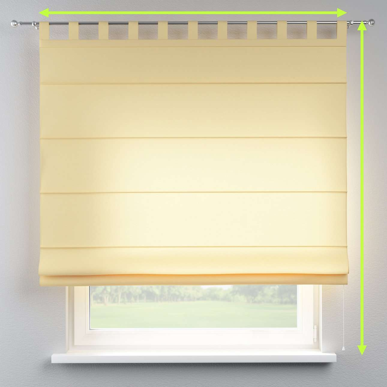 Verona tab top roman blind in collection Jupiter, fabric: 127-42