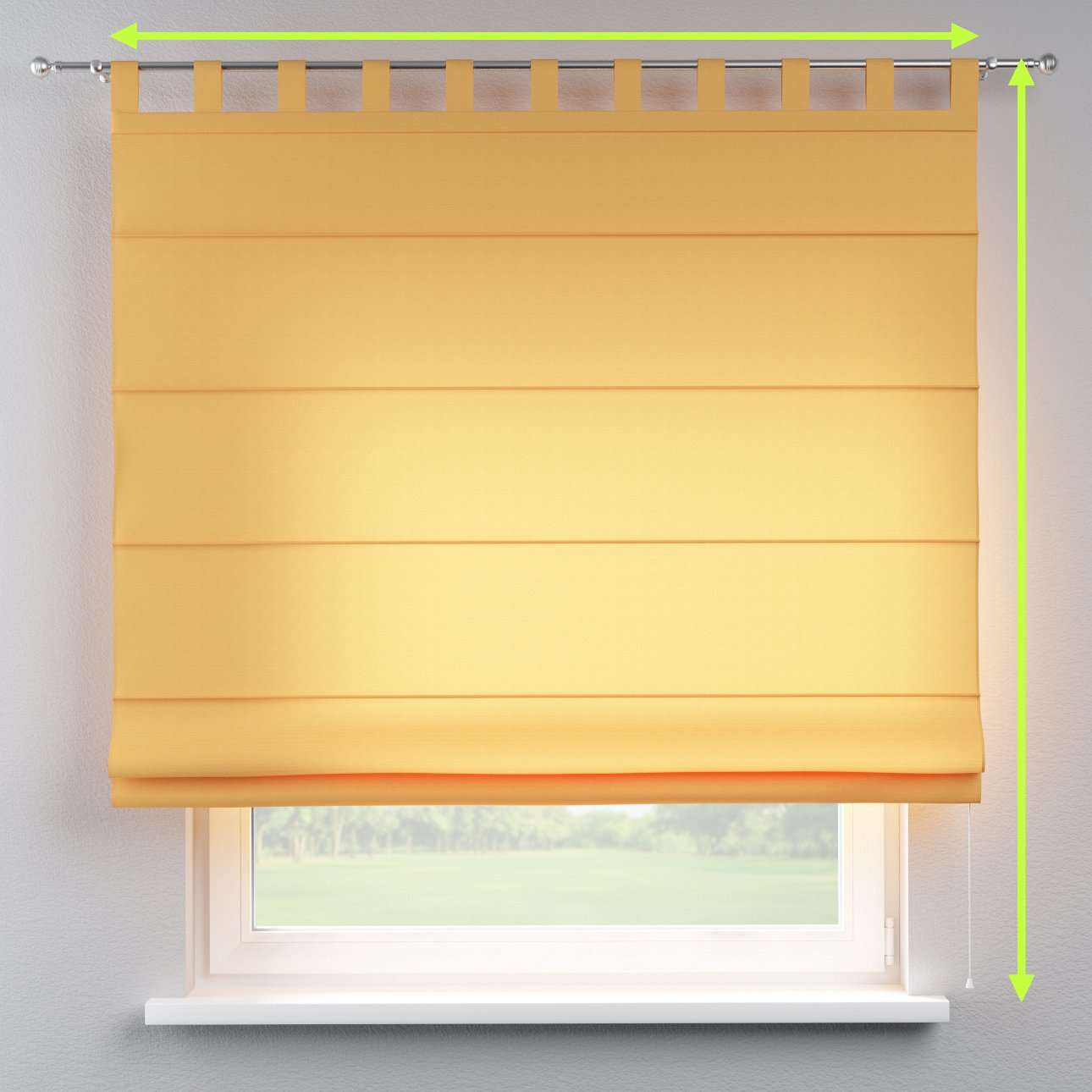 Verona tab top roman blind in collection Jupiter, fabric: 127-46