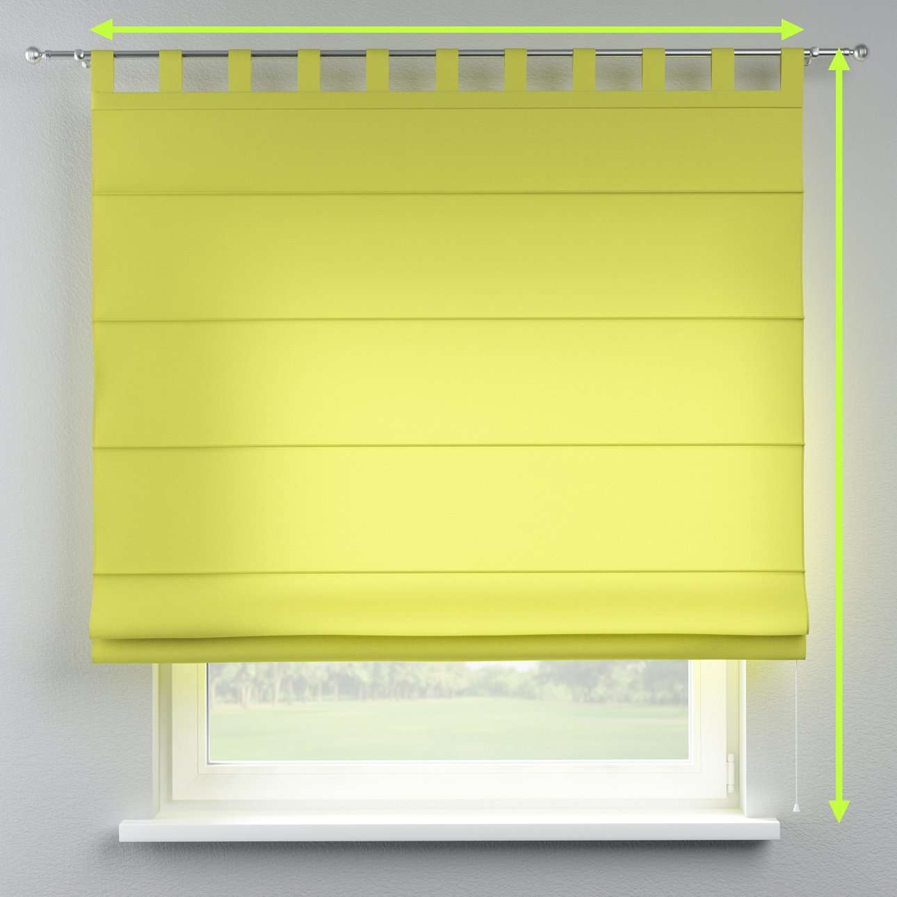 Verona tab top roman blind in collection Jupiter, fabric: 127-50