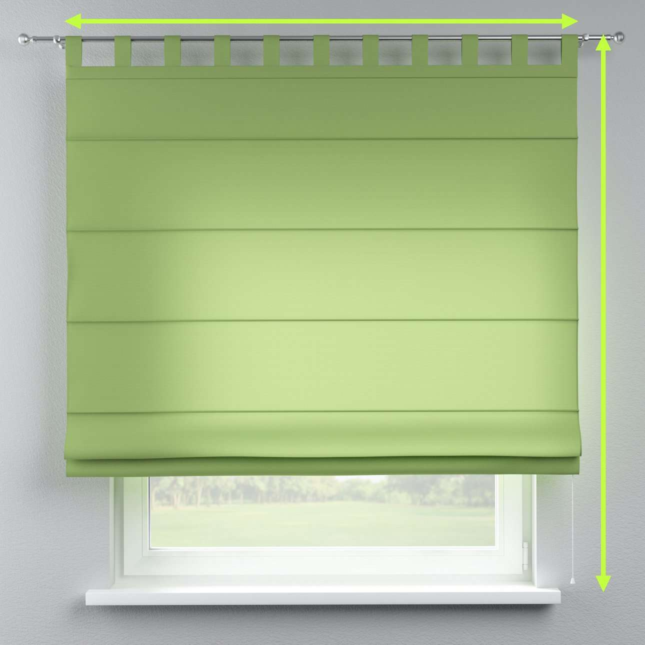 Verona tab top roman blind in collection Jupiter, fabric: 127-57
