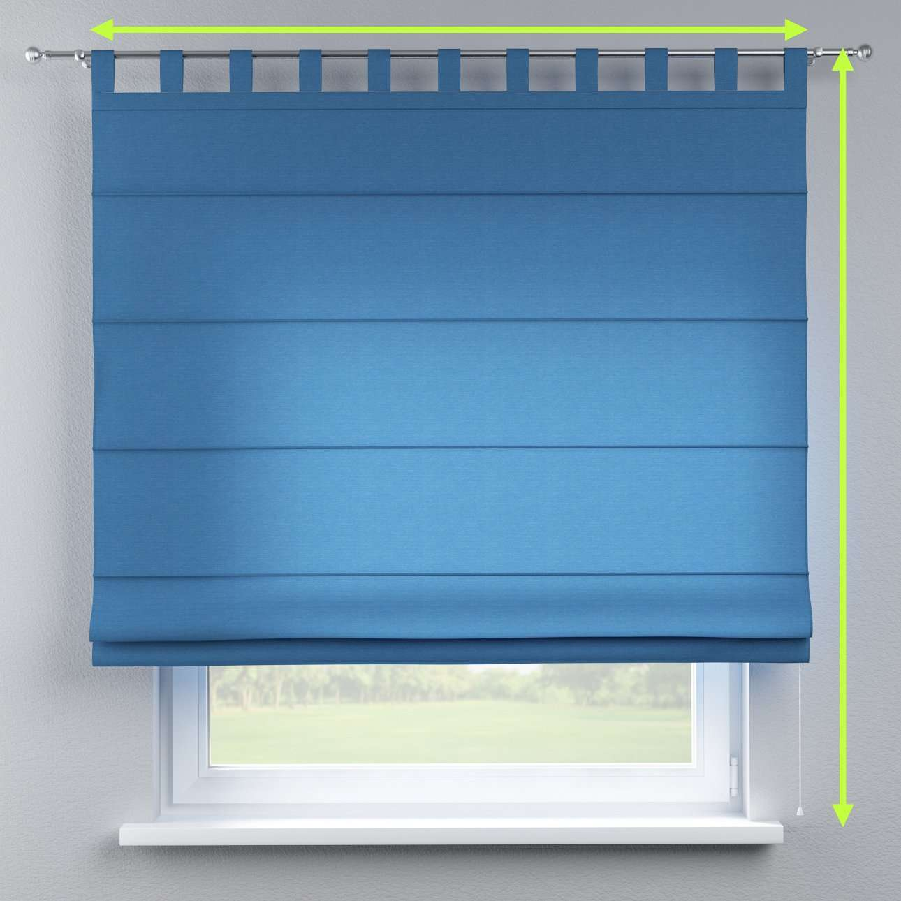 Verona tab top roman blind in collection Jupiter, fabric: 127-61