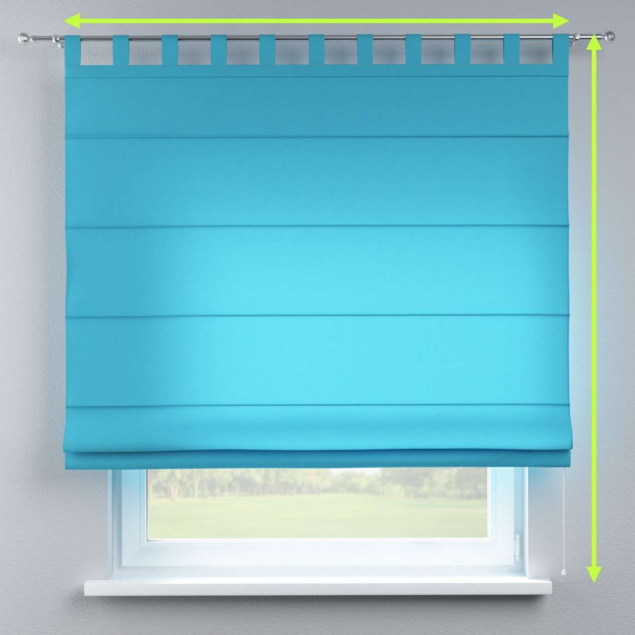 Verona tab top roman blind in collection Jupiter, fabric: 127-70