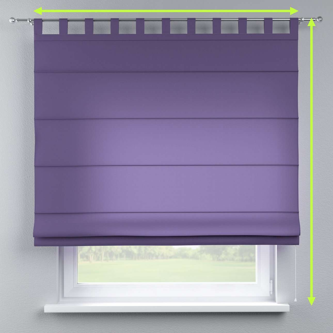 Verona tab top roman blind in collection Jupiter, fabric: 127-75