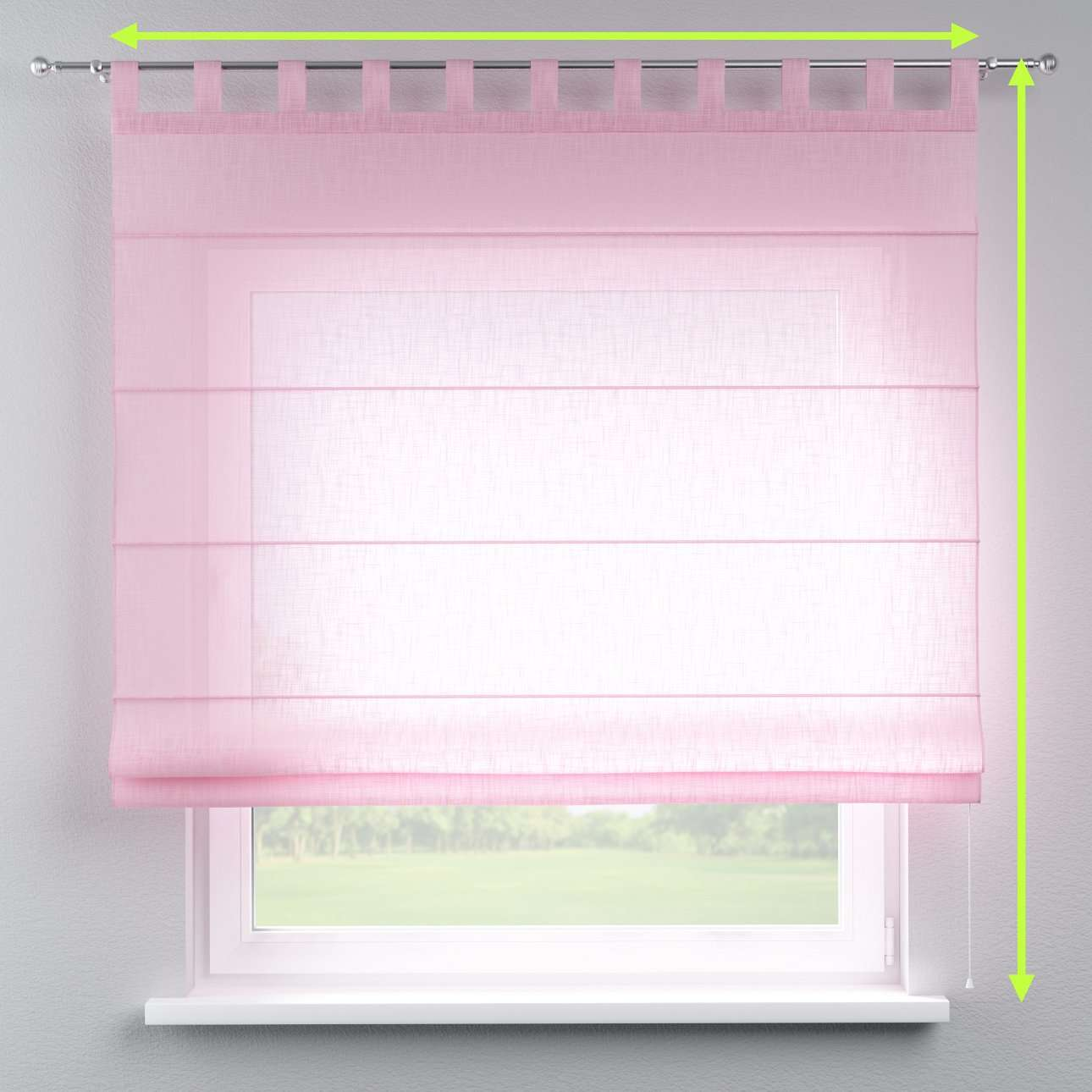 Verona tab top roman blind in collection Romantica, fabric: 128-03