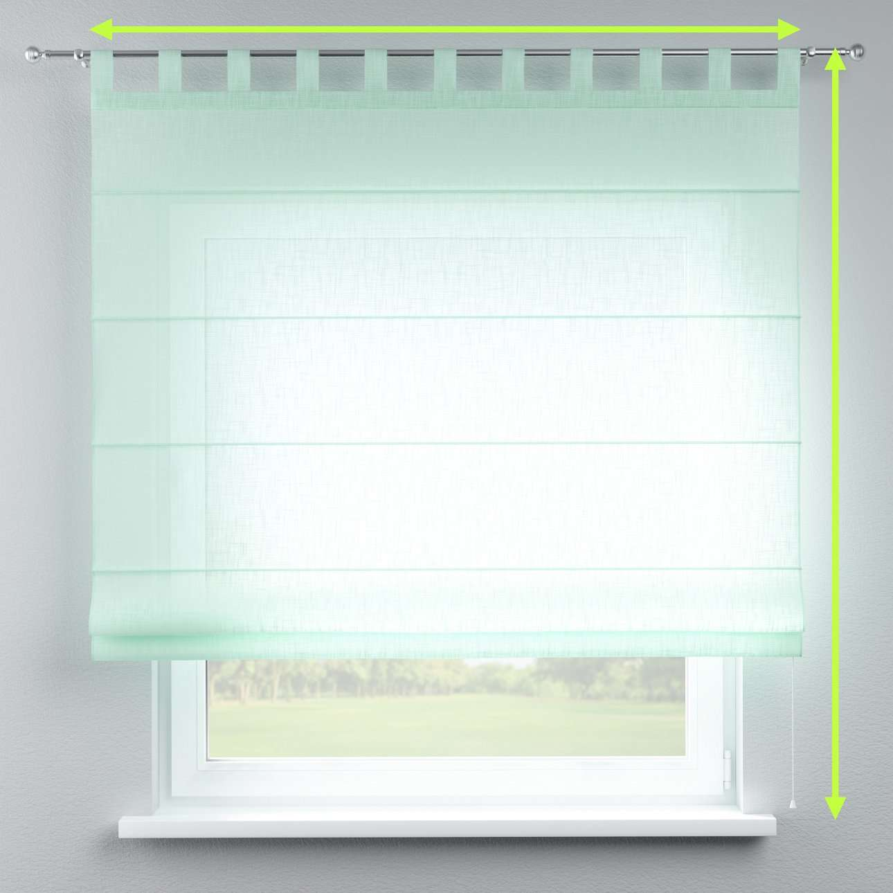 Verona tab top roman blind in collection Romantica, fabric: 128-04