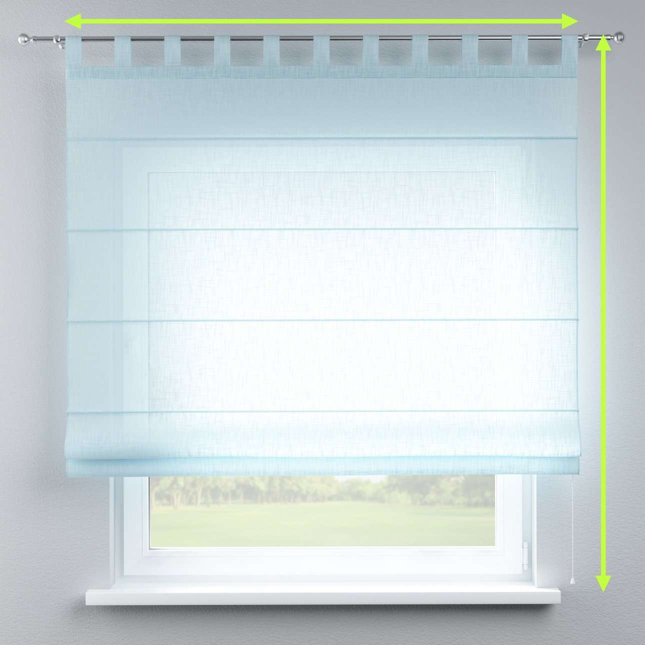 Verona tab top roman blind in collection Romantica, fabric: 128-06
