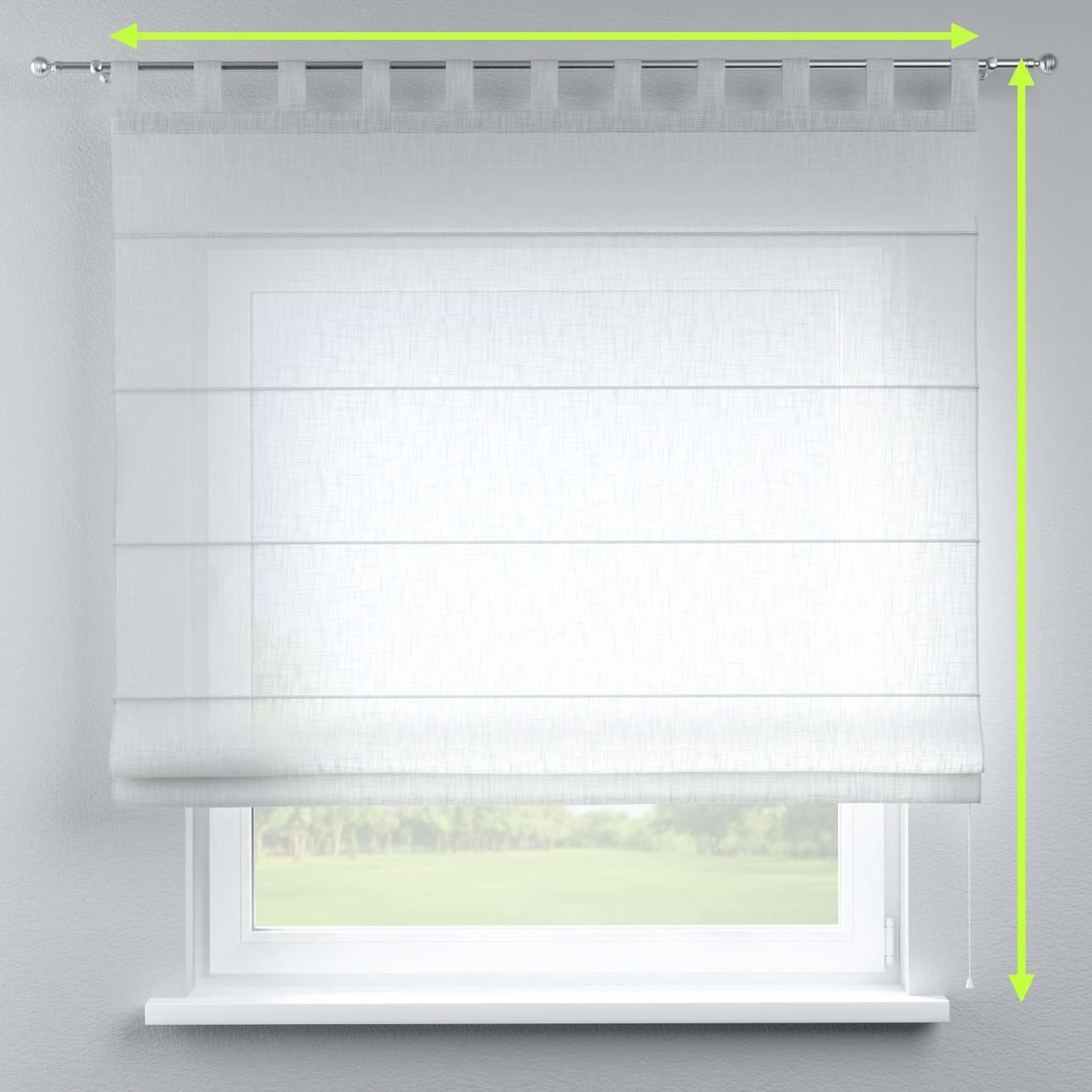 Verona tab top roman blind in collection Romantica, fabric: 128-07