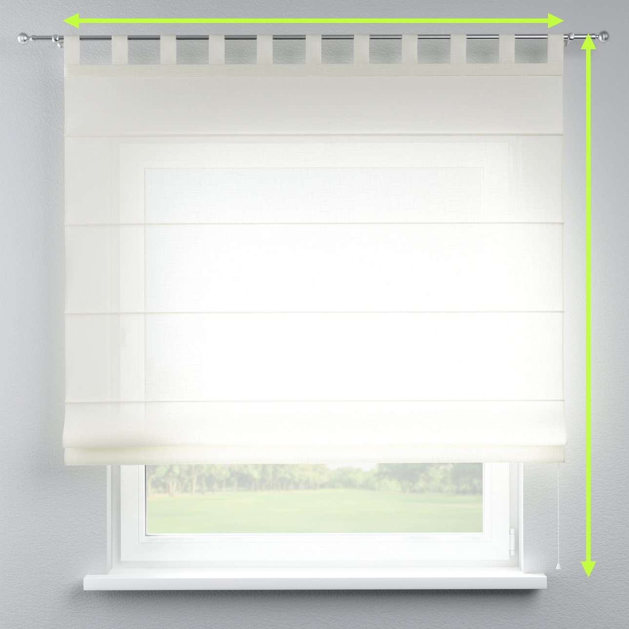 Verona tab top roman blind in collection Romantica, fabric: 128-88