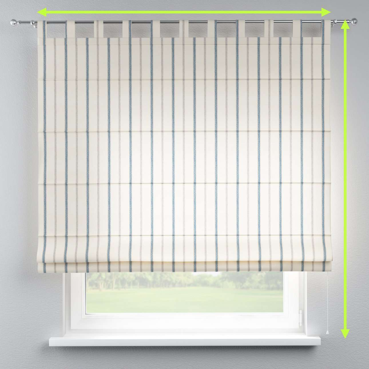 Verona tab top roman blind in collection Avinon, fabric: 129-66