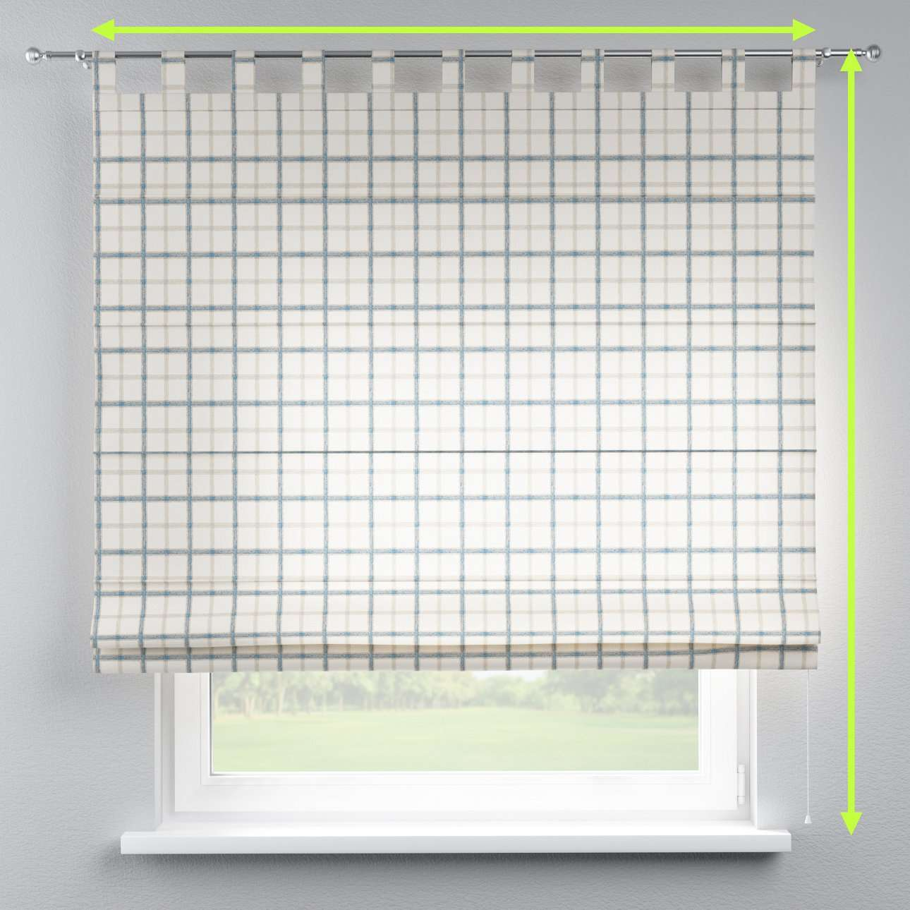 Verona tab top roman blind in collection Avinon, fabric: 131-66