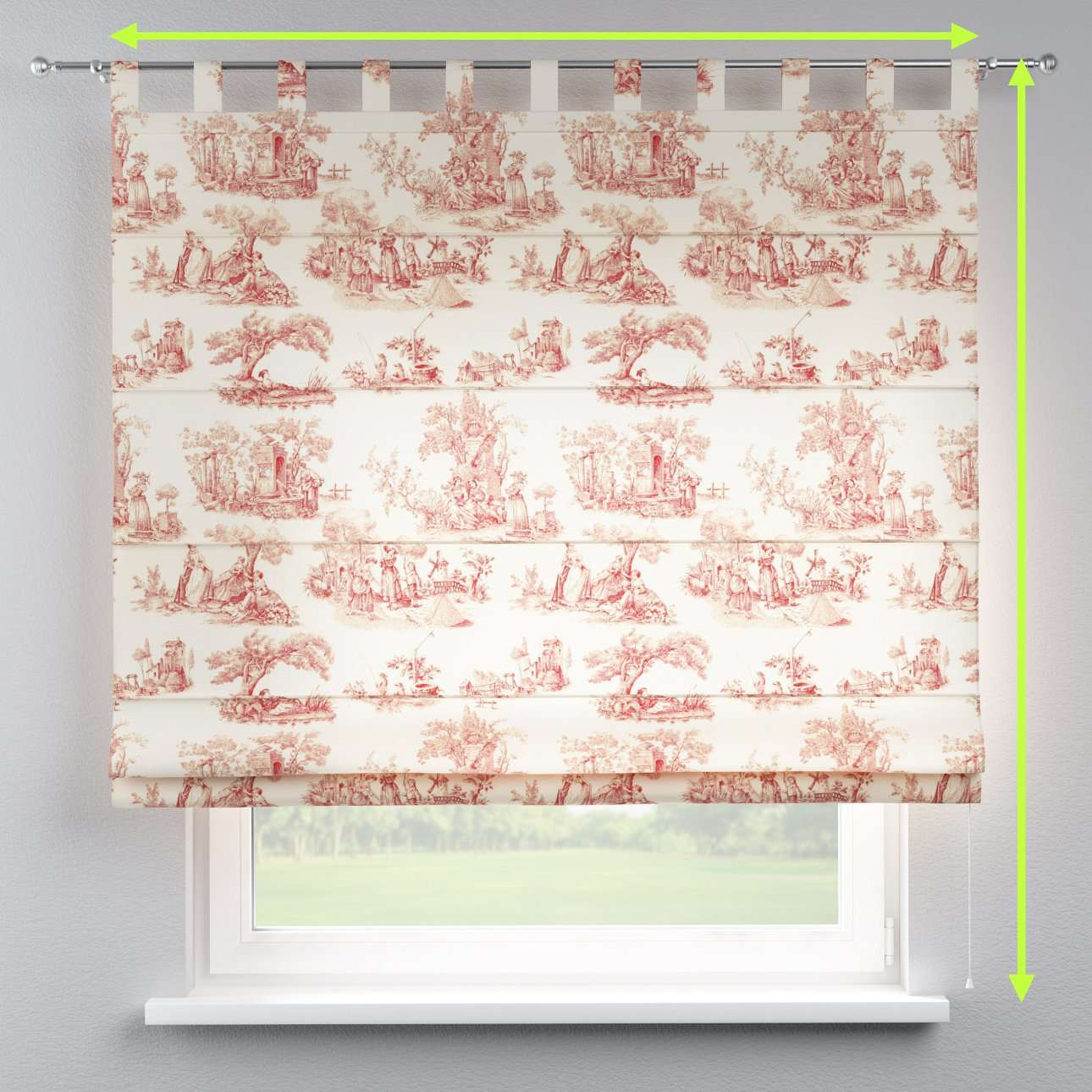 Verona tab top roman blind in collection Avinon, fabric: 132-15
