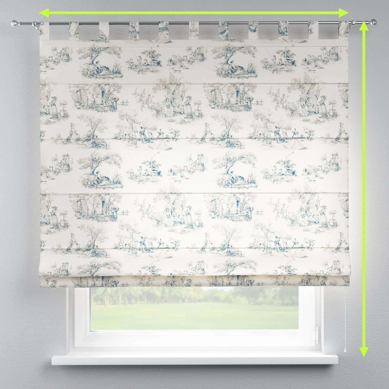 Verona tab top roman blind in collection Avinon, fabric: 132-66