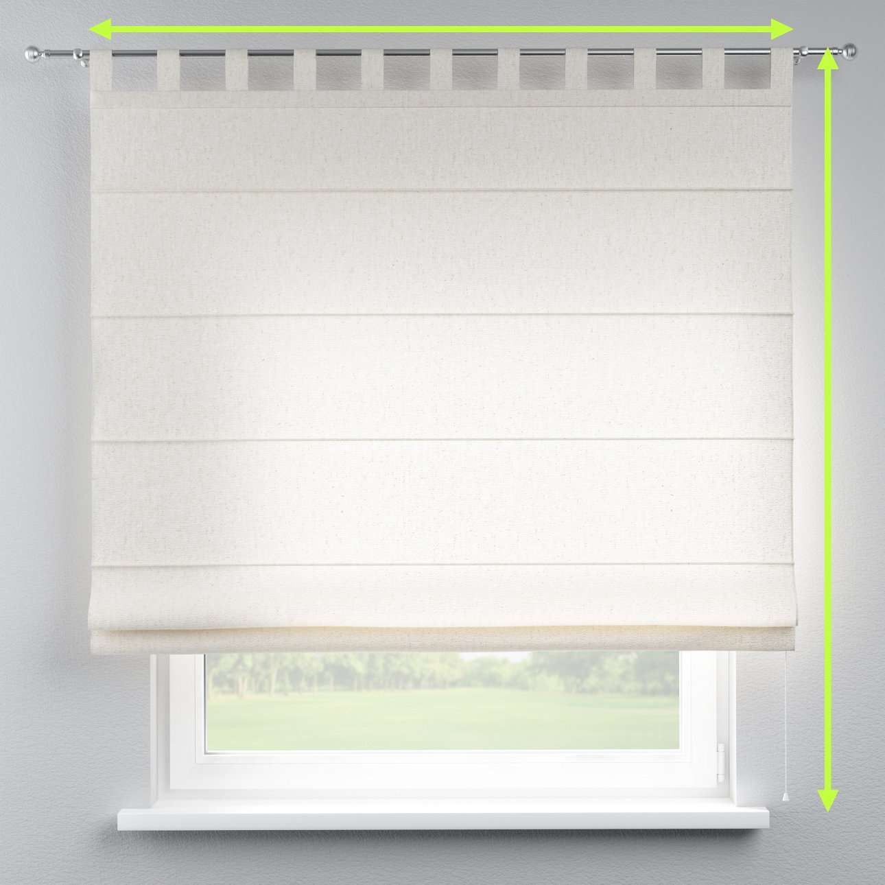 Verona tab top roman blind in collection Loneta , fabric: 133-01
